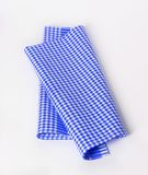 Blue and white tea towel Royalty Free Stock Photography