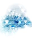 Blue white tech vector triangles design Royalty Free Stock Photo