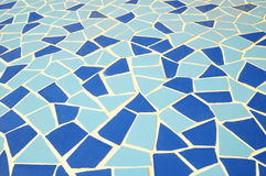 Blue and White Texture Mosaic Stock Images