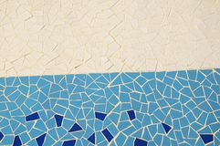 Blue and White Texture Mosaic Royalty Free Stock Photography