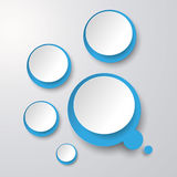Blue White Thought Bubble With Circles Stock Photography