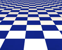 Blue and white tiles Stock Photo