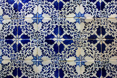 Blue and White Tiles, Lisbon, Portugal Stock Image