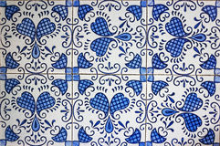 Blue and white tiles Stock Photography
