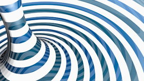 Blue and white torus stock footage