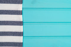 Blue and white towel over table Stock Images