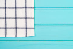 Blue and white towel over table Royalty Free Stock Photography