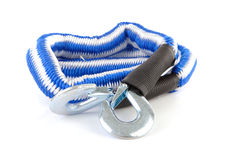 Blue and white towing rope Stock Photos