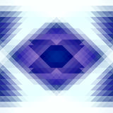 Blue and white triangles and rhombus abstract geometry seamless pattern. Vector Stock Photo