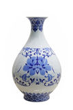 Blue and white vase Stock Photography
