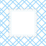 Blue and white vector template. Royalty Free Stock Image