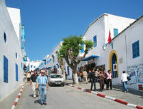 The blue and white village of Sidi Bou Said stock images
