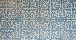 Blue and White Wall tiles Royalty Free Stock Photos
