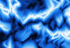 Blue and White Wave Background. Smooth blue and white wavy effect on a black background Royalty Free Stock Image