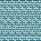 Blue and white wave background Stock Photography