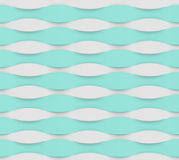 Blue white wave pattern Royalty Free Stock Images