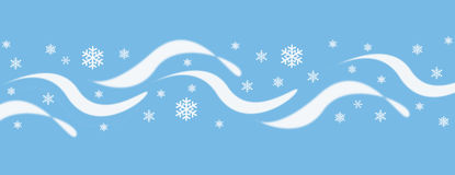 Blue and white wave and snowflake design cover illustration Royalty Free Stock Image