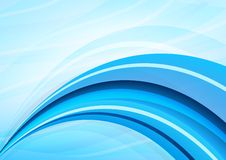Blue and white waves background Royalty Free Stock Image