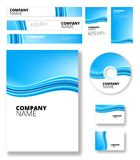 Blue and white waves package background Royalty Free Stock Image