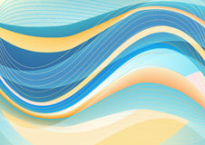 Blue and white waves package background Royalty Free Stock Photo