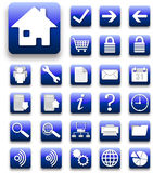 Blue and white  website and internet icon Stock Photo