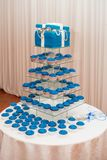 Blue Cake and Cupcakes royalty free stock photos