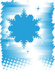 Blue white winter background.Ski banner Royalty Free Stock Images