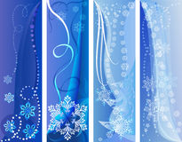 Blue and white winter banners Stock Photos