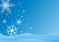 Blue and white winter scene Royalty Free Stock Photos
