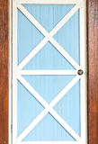 Blue and white wood door Stock Image