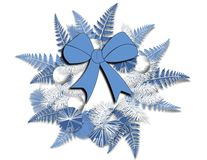 Blue and White Wreath. An illustration of a blue and white Christmas or Winter wreath Royalty Free Stock Images