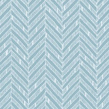 Blue and white zig-zag pattern, pastel colors and delicate lines. A simple zig-zag chevron background in baby blue and white fine lines Stock Photo