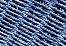 Blue Wicker basket braided texture. Abstract background and texture for design and ideas stock photo
