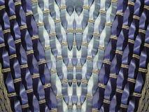 Blue wicker texture Stock Photos