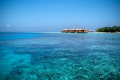 Blue and wide ocean. In a tropical island Royalty Free Stock Photography