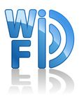 Blue wifi icon Royalty Free Stock Photography