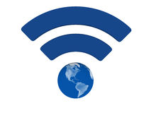 Blue WiFi symbol Stock Images