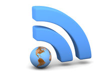 Blue WiFi symbol Royalty Free Stock Image