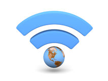 Blue WiFi symbol Royalty Free Stock Photography