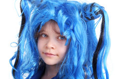 Blue wig Royalty Free Stock Photo