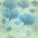 Blue wild roses in the morning dew Stock Photos