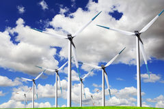 Blue wind energy Stock Photos