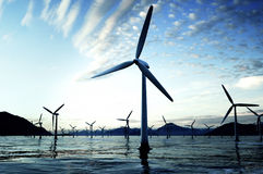 Blue wind power Stock Photography