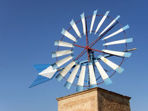 Blue Windmill 4 Stock Photography