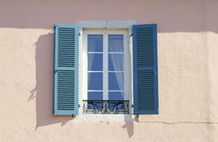 Blue window. In paris Royalty Free Stock Photography
