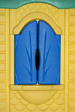 Blue window for background texture Stock Photo