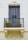 Blue window and balconie Royalty Free Stock Image