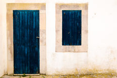 Blue window and door Stock Image