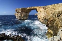 Blue window. The famous Blue Window on Gozo Island - Malta Stock Images