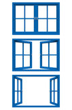 Blue window frame Royalty Free Stock Photography